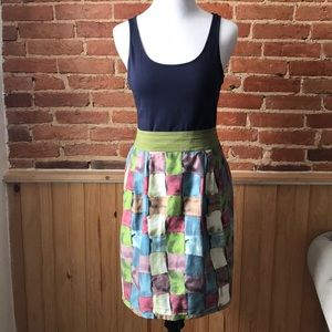 Anthropologie Ipsa Stained Glass Skirt